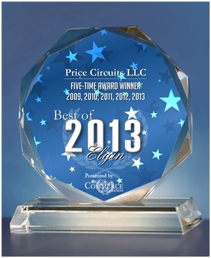 Price Circuits LLC for the 2013 Elgin Awards